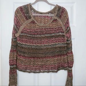 Free People Multi Coloured Knit Sweater